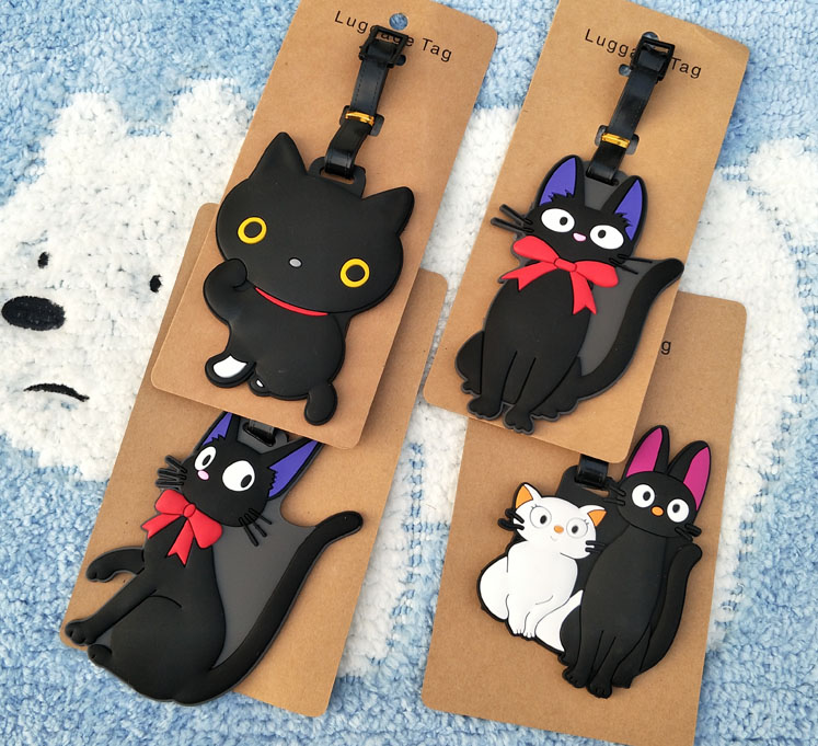 1pcs KiKi S Delivery Service Anime Travel Brand Luggage Tag Suitcase ID Address Portable Tags Holder Baggage Labels New