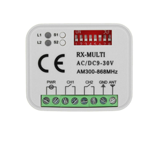Multi-Receiver Universal Multi-300-868 2-Channel New Mhz 12-24V AC RX DC