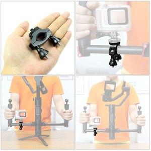 Image 5 - Bike Mount Bicycle Bracket Holder Clip Rotating Accessories for DJI OSMO Mobile 2 Handheld Gimbal Stabilizer SJCAM XIAOYI Camera