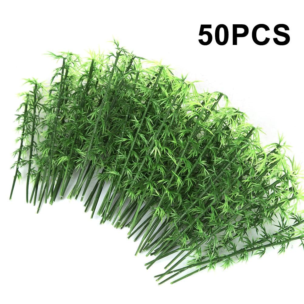 50Pcs 10cm/12cm/15cm Plastic Miniature Model Tree Landscape Bamboo Tree Sand Table Model Decor Accessories Toys Hobbies 2019 New