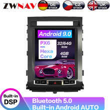 Carplay DSP Android PX6 Vertical Tesla Radio Screen Car Multimedia Player GPS Navigation For TOYOTA LAND CRUISER LC200 2008-2015 carplay dsp android 9 0 px6 vertical tesla radio car multimedia player stereo gps navigation for land cruiser lc100 2002 2007