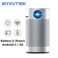 Byintek-projetor portátil de bolso para cinema, mini led, android, wi-fi, 1080p, 4k, dlp, home theater, prático