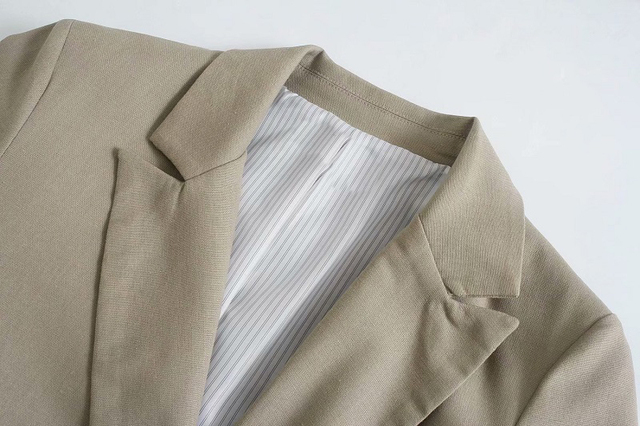 Toppies Summer Thin Linen Blazer Jacket Woman Leisure Suit Jacket Open Stitch Loose Jacket 3