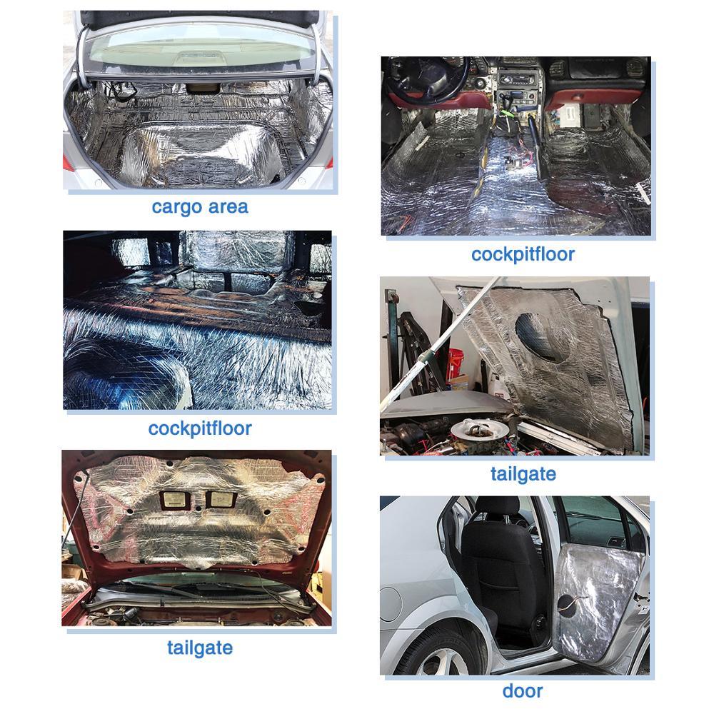 Image 5 - UXCELL 10mm Thick Aluminum Fiber Muffler Cotton Car Auto Fender Heat Sound Deadener Insulation Mat-in Sound & Heat Insulation Cotton from Automobiles & Motorcycles