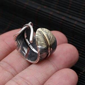 S925 srebro biżuteria osobowość Retro tajski srebrny Takahashi Goro męskie pióro żywe usta precyzyjny strój pierścień