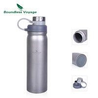 Boundless viagem garrafa de titânio com tampa à prova de vazamento ao ar livre acampamento caminhadas esportes garrafa água sopa chá drinkware 1000ml