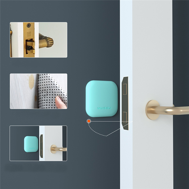 Wall Thickening Mute Door Fenders Flower Modelling Rubber Fender Handle Door Lock Protective Pad Protection Wall Stick
