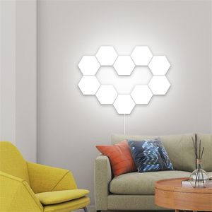 Image 5 - Nordic Art LED Wall Lamp Loft British Creative Honeycomb Modular Assembly Helios Touch Lamp Quantum Lamps Magnetic Wall Lights