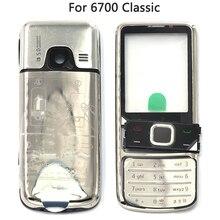 Carcasa completa para Nokia 6700 Classic 6700C, carcasa trasera de Metal para batería, marco frontal, placa trasera, 6700