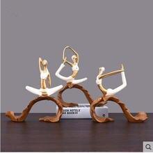 Милая статуя Йога для девочек персонажа художественная дома