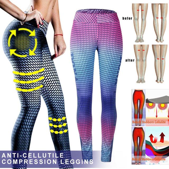 Womens Anti-Cellulite Compression Slim Yoga Pants