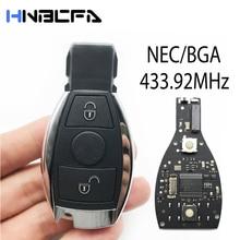 2 кнопки 433MHz Remote Control Car Key Fob Case For Mercedes +BENZ 2000% 2B Keyless Entry with NEC% 26BGA Key Shell Smart Key