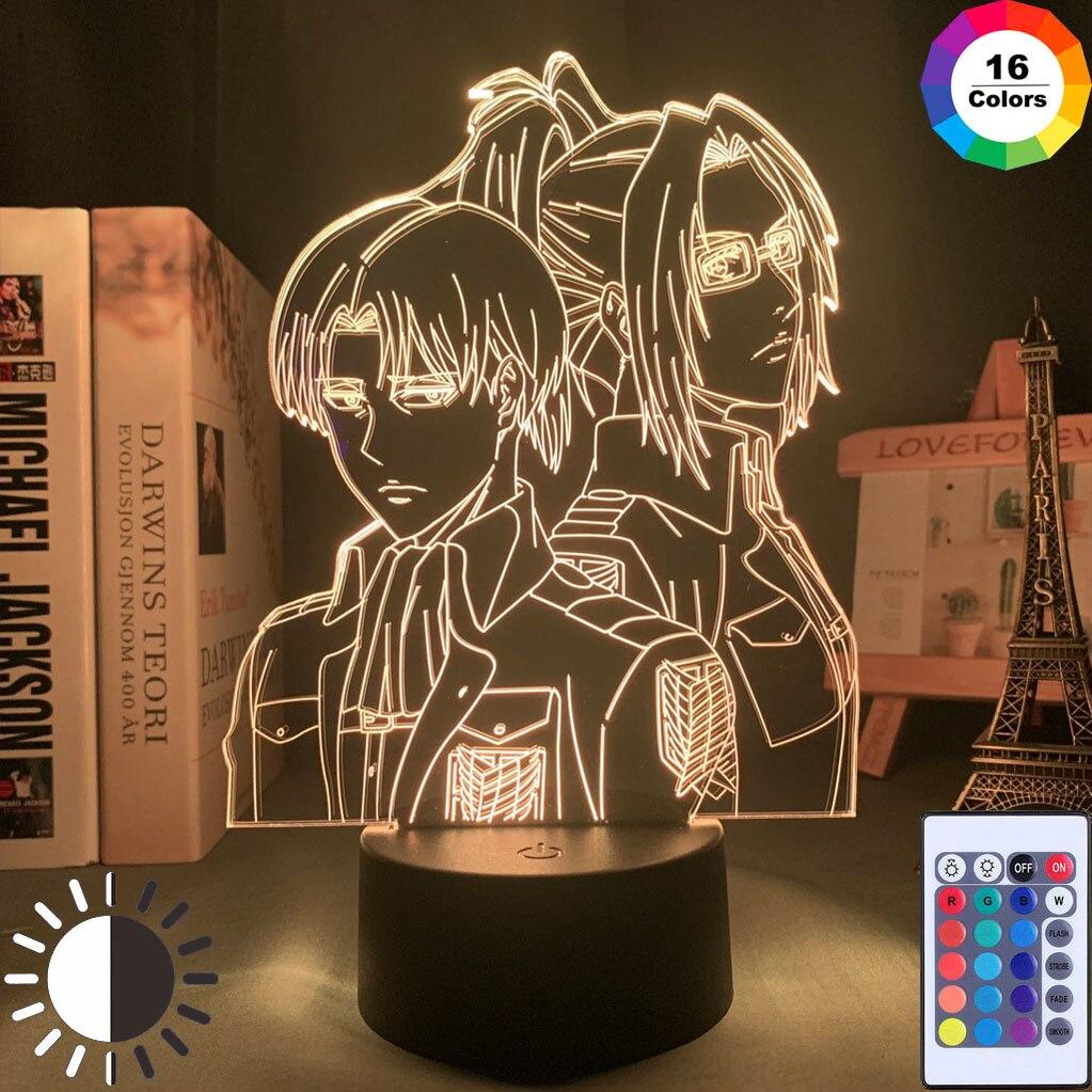 Angriff auf Titan Levi Ackerman Acryl 3D Lampe Hange Zoe für Home Zimmer Dekor Licht Kind Geschenk Hange Zoe LED nacht Licht Anime