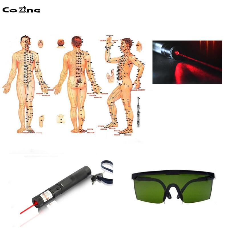Meridian Energie Akupunktur Stift Laser Elektronische Puls Analgesie Therapie Maschine Körper Massager