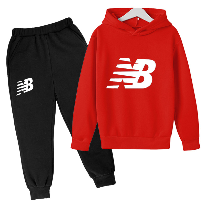 Children's Sportswear Spring and Autumn Clothes Boys and Girls Long-sleeved Tops + Pants Children 2 Suits Big Kids Sports Suits