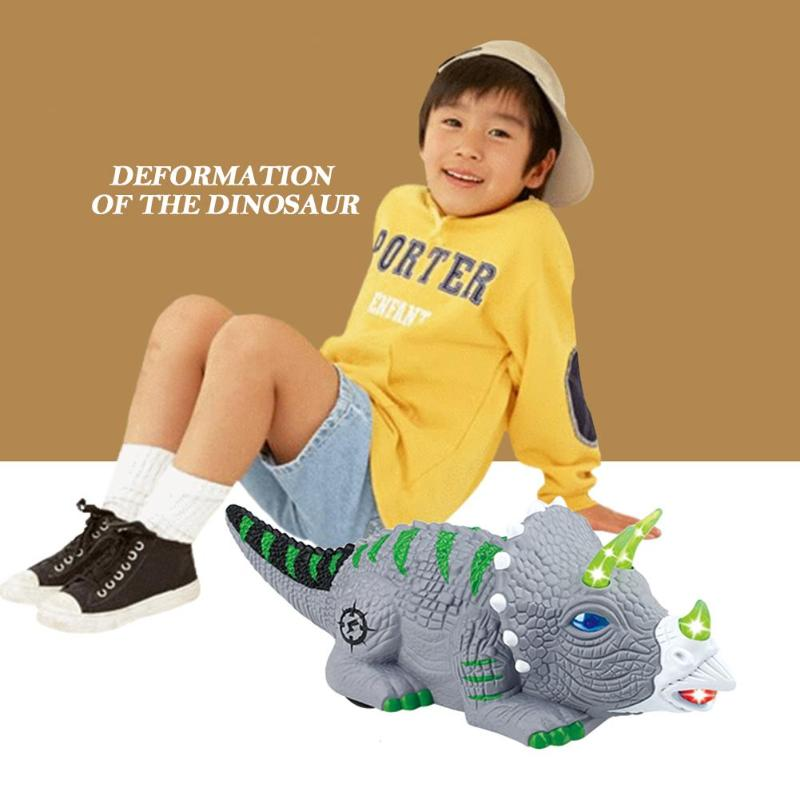Deformation Electronic Dinosaur Model Glow Lighting Vocal Music Automatic Walking Animal Pets Kids Present Children Toys