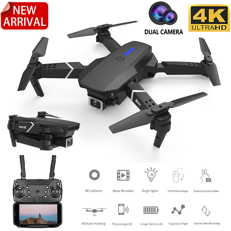 2020 New E525 WIFI FPV Drone With Wide Angle HD 4K 1080P Camera Height Hold RC Foldable Quadcopter Dron Gift Toy