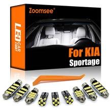Zoomsee interior led para kia sportage 2 3 4 2005-2020 canbus veículo lâmpada interior dome mapa leitura luz erro livre kit de lâmpada automóvel