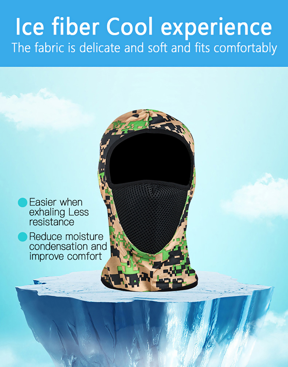 Hd8f44e8082b54fb1ab7ae41d81c29d1eV Zacro Outdoor Cycling Hooded Training Mask for Men Women Summer Sport Facemask Windproof Sunscreen Dustproof Bicycle Ski Mask