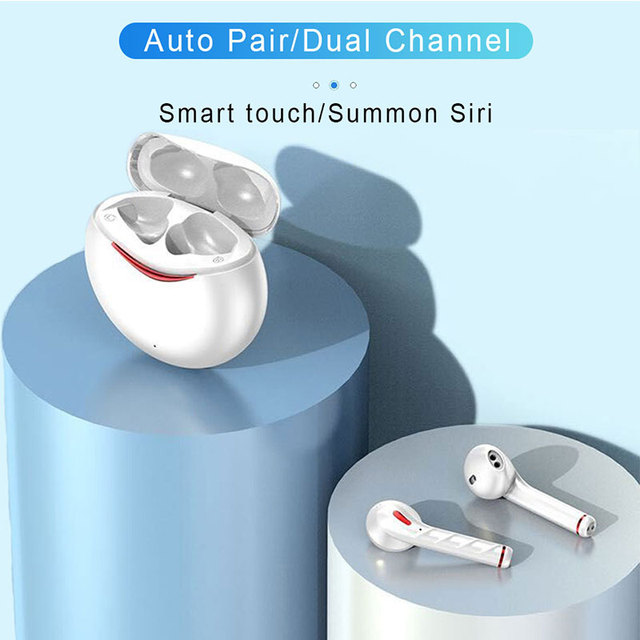 TWS Wireless Earpiece Blueooth Earphones touch earburds HIFI 6D Stereo Wireless charge  Gaming Headset with dual microphone