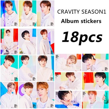 18Pcs/Set CRAVITY Team Album SEASON1 Photo Card Stickers CRAVITY Handsome Doys Lomo Cards Poster Photocard For Gift Collection image