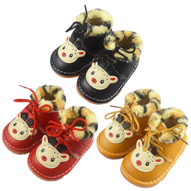 Baby Shoes Baby Girls Boys Anti-Slip Cartoon Shoes Casual Toddler Thicken Velvet Soft Soled Walking Shoess Drop L