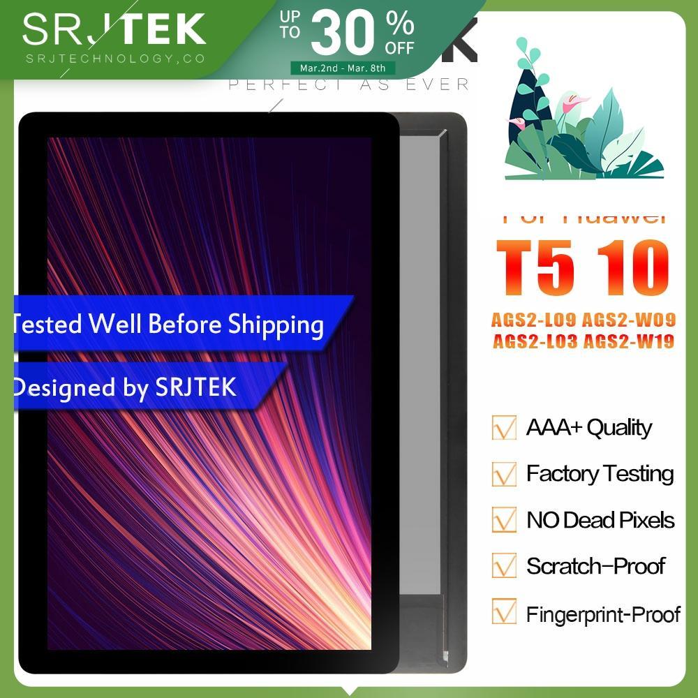 SRJTEK 10,1 для Huawei MediaPad T5 10 LCD AGS2 L09 AGS2 W09 AGS2 L03 Дисплей Матрица кодирующий преобразователь сенсорного экрана в сборе