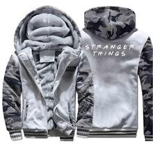 Winter Stranger Things Jacket Men Fleece Camo Thic