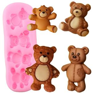 Image 1 - Cute Baby Bears Silicone Molds Polymer Clay Candy Chocolate Gumpaste Mold DIY Party Cupcake Topper Fondant Cake Decorating Tools