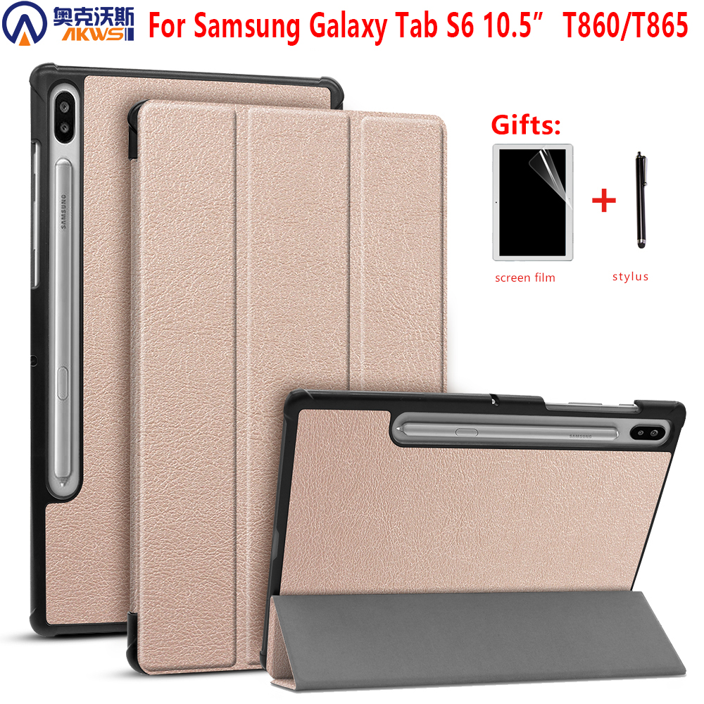 Ultra Slim PU Leather Case Book Flip Cover for Samsung Galaxy Tab S6 10.5 T860 T865 SM T860 SM T865 2019 Tablet Auto Wake Sleep|Tablets & e-Books Case|Computer & Office - title=