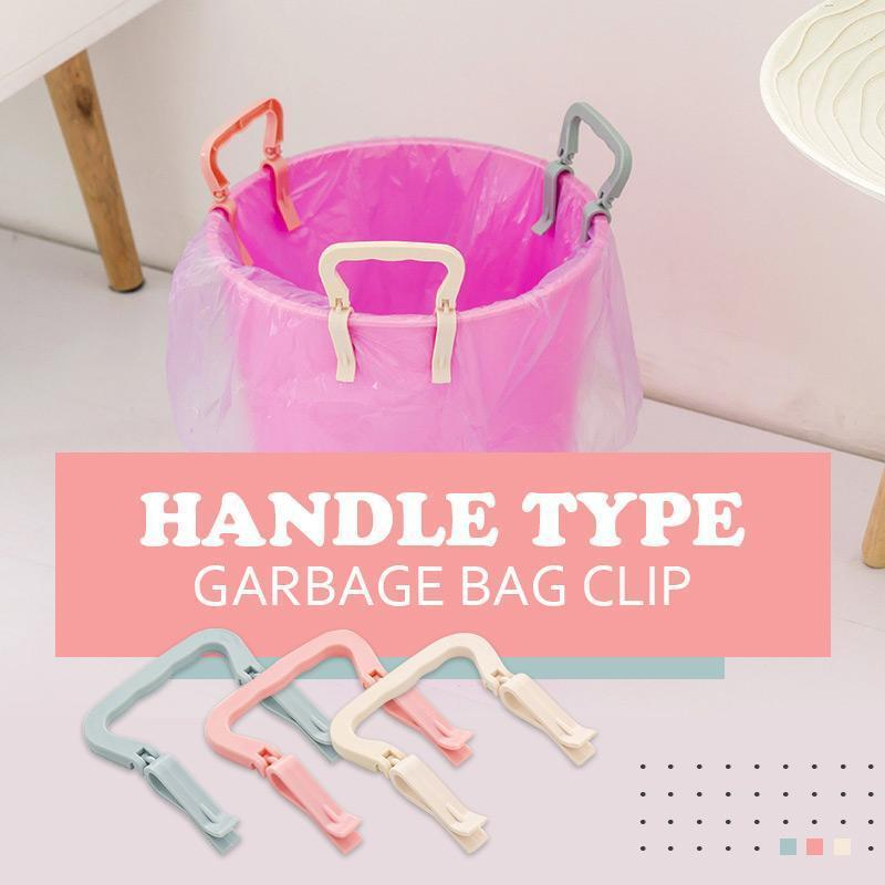 4pcs Handle Type Garbage Bag Clip Practical Trash Can Clips Plastic Fixed Garbage Bag Clip Fixed Waste Bin Bag Holder