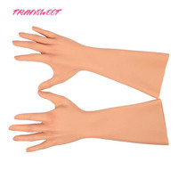 2019 Silicone Hand Gloves Realistic Glove Female Artificial Skin Female Fake Hands for Crossdresser