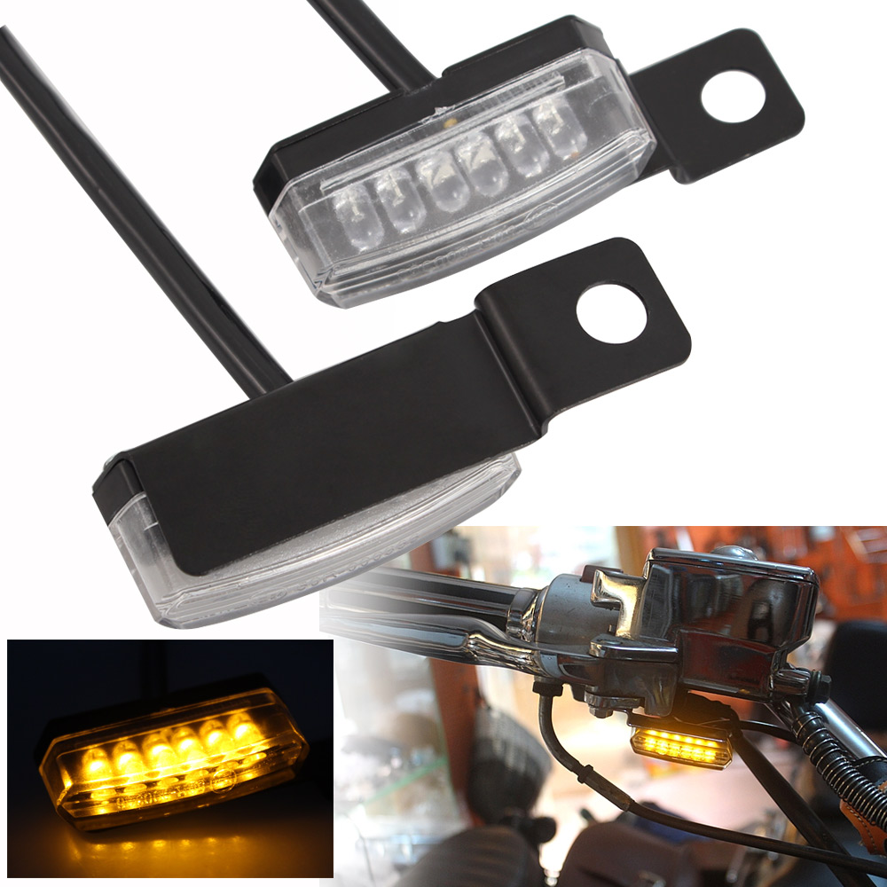 Auxbar 4PCS Motorcycle Sequential Flowing Turn Signal Lights Motorbike 12V LED Turning Indicator Bulbs for Scooter Quad Cruiser Off Road Y-Shape