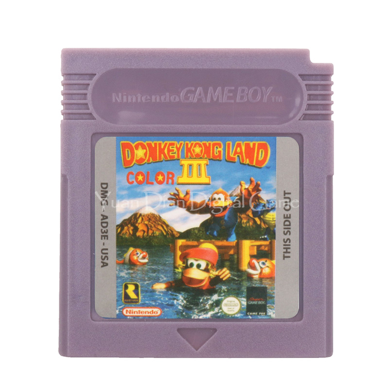 For Nintendo GBC Video Game Cartridge Console Card Donke Kong Land Color 3 English Language Version
