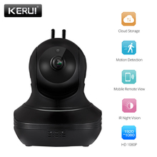 Kerui câmera interna sem fio 720 p 1080 p hd cheia de armazenamento em nuvem de segurança em casa câmera de vigilância detecção de movimento visão noturna