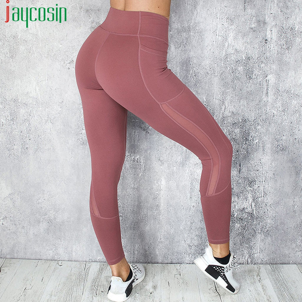 Sexy Push Up Leggings Women Workout Clothing Heart High Waist Leggins Female Breathable Patchwork Jeggings Activewear