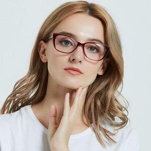 Image 5 - LuckTime موضة صغيرة الماس نظارات إطار الرجعية مربع امرأة قصر النظر نظارات إطار محظوظ الوقت وصفة طبية إطارات النظارات 1795