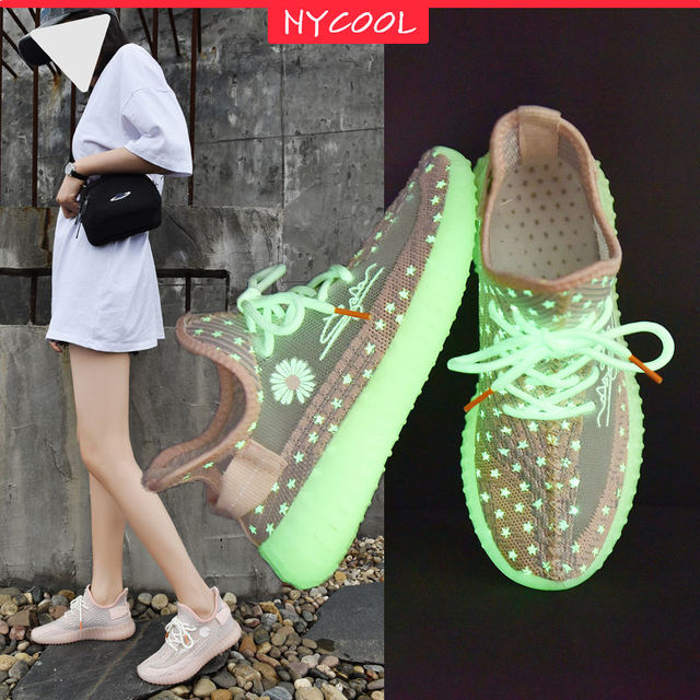 Jesus is king Running Shoes Kanye West NYCOOL Fluorescent Light Up Sneakers  2