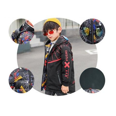 criancas para baixo jaqueta casaco moda homem aranha