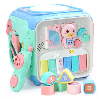 Baby Game Table Multi-function Toy Puzzle Wisdom Cube Toy Children Early Education Music Study Table