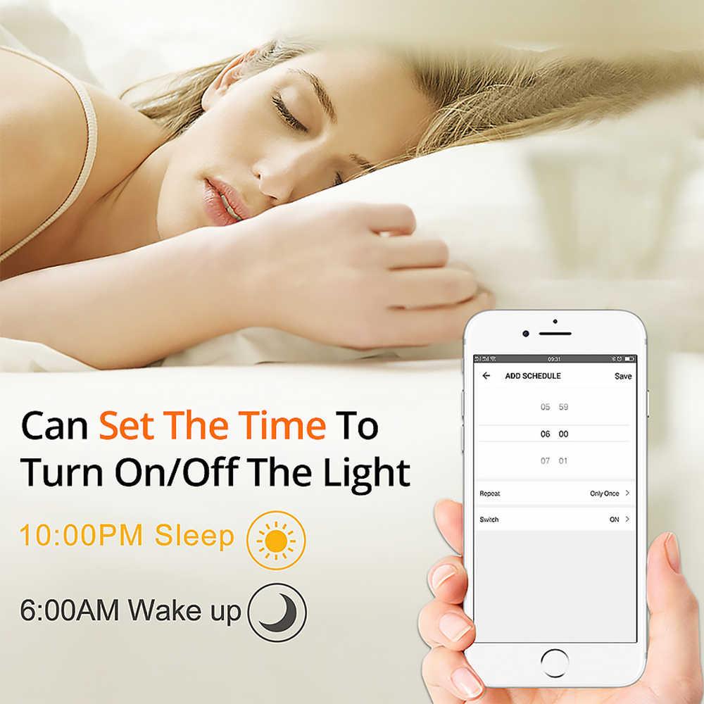 E27 B22 WIFI ampoule LED intelligente 15W intelligent avertir éclairage réglable lampe à LED App contrôle travail avec Alexa Google Assistant