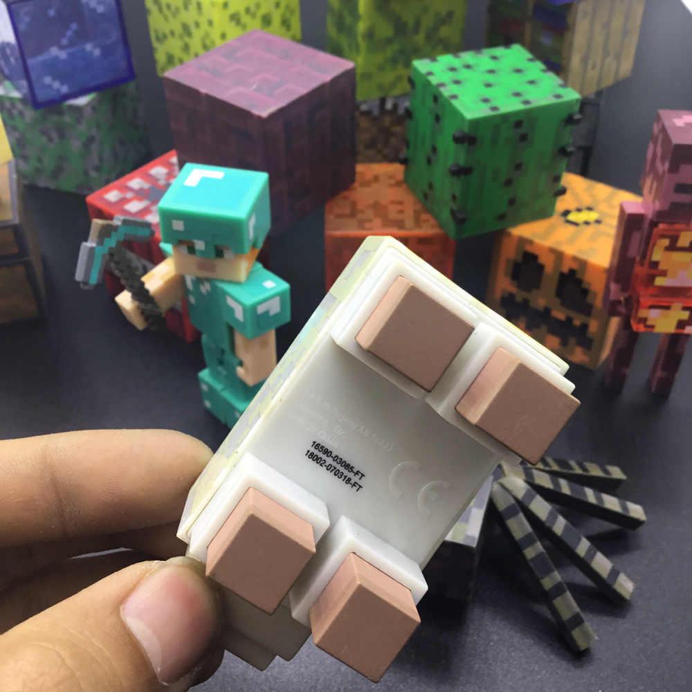 A nova boneca de plástico cooly creepers bonecas redstone minério quadrado brinquedos presentes populares figuras de ação brinquedos