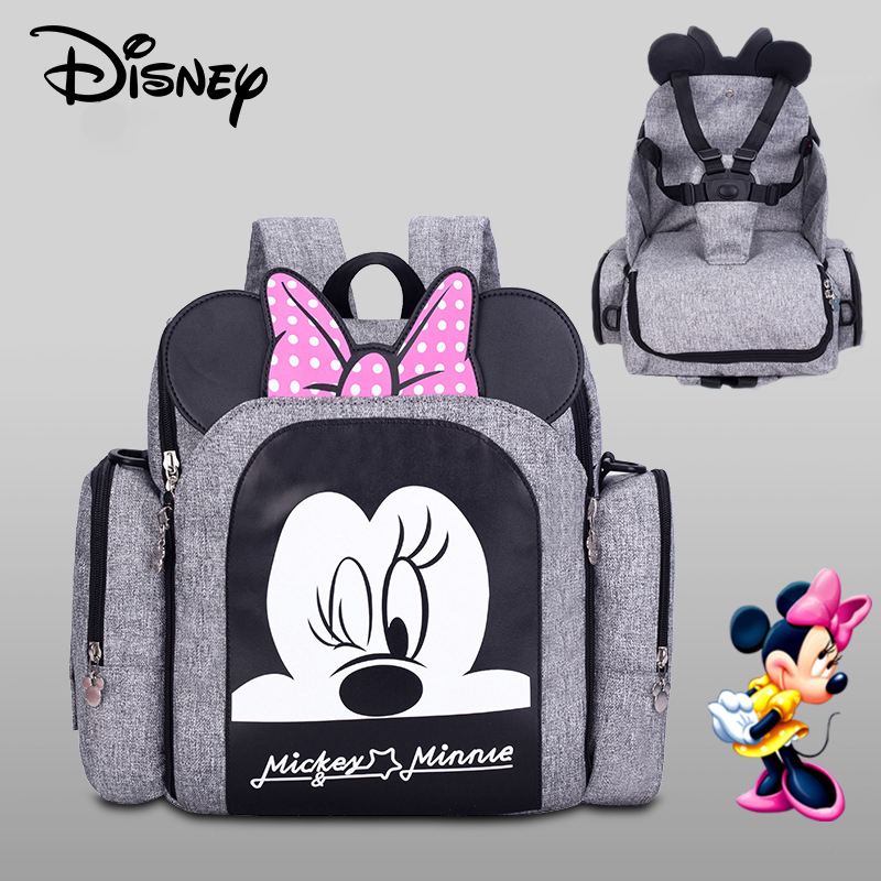 Disney Mickey Fahsion Mummy Bag Maternity Bag Baby Diaper Bag Mom Multifunctional Large Capacity Baby Stroller Bag Organizer New