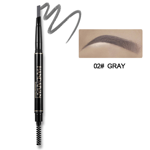 Eyebrow Pencil 5 Color Double Head Manual Rotation Eyebrow Pencil Waterproof Durable Makeup Is Not Blooming Tattoo Dyed Pen 2