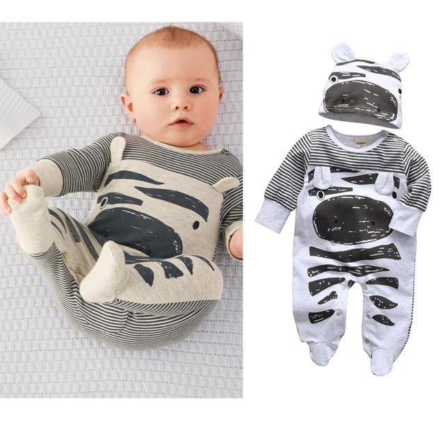 Baby's Creative Romper with Beanie 3