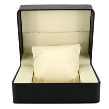 цена на Black PU Leather Watch Box Display Jewellery Storage Case Present for Men Gift 14x11x7cm