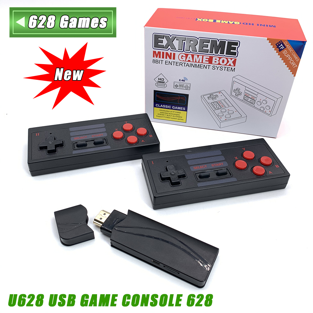 New 4K HDMI Video Game Console Built in 568  628 Classic Games Mini Retro Console Wireless Controller HDMI Output Dual Players
