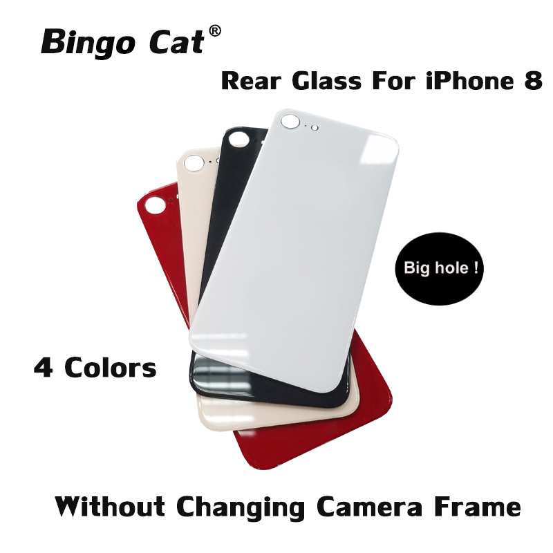Easy Change Back Cover Glass Rear Housing For IPhone 8 Plus 8 Rear Door Body Assemble Housing Replacement With Big Hole