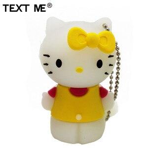 Image 4 - Tekst Me Rood Pinl Bule Gree Geel Kleur Schattige Hello Kitty Schoen Usb Flash Drive Usb 2.0 4Gb 8gb 16Gb 32Gb 64Gb Pendrive Gift