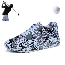 Couple Camouflage Golf Shoes Cushion Shock Absorption Men and Women Outdoor Sports Shoes Army Green Camouflage Men's Golf Shoes
